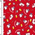 Childish Fabric by Sanrio Kiyohara - Hello Kitty Okashi Red x10cm 58059e724