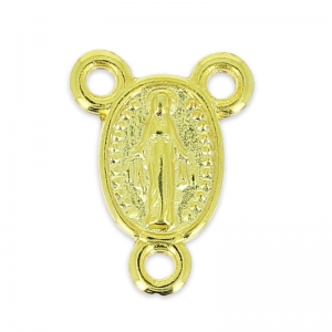 Virgin Mary spacer 14x11mm golden x1