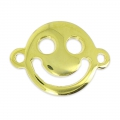 Happy Smiley Spacer 19x14mm golden x1