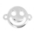 Happy Smiley Spacer 19x14mm silver x1