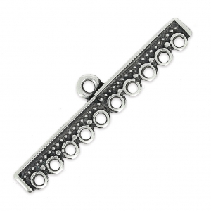Wide Spacers for 10 ranks bracelet 45 mm antique silver x2