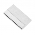 Magnetic clasp of 42 mm for shoelace of 40 mm silver sparkling effect x1