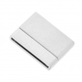 Magnetic clasp of 32 mm for shoelace of 30 mm silver sparkling effect x1