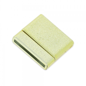 Magnetic clasp of 22 mm for shoelace of 20 mm light gold sparkling effect x1