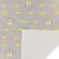Childish Fabric by Warmly Kiyohara - Sweat Lion Pattern Grey Yellow x10cm ac8e0e858