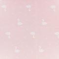 Childish Fabric by Warmly Kiyohara - Sweat Swann Pattern Pink White x10cm b16e990ef