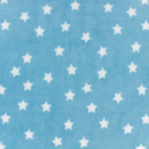 Childish Fabric by Kiyohara - Polar security blanket Stars Pattern Blue  x10cm - Perles   Co ca7da1f1f