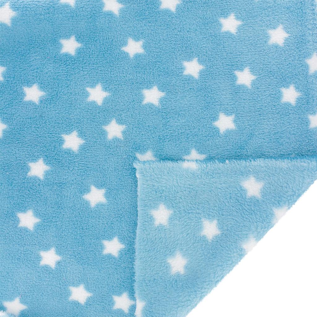 ... Childish Fabric by Kiyohara - Polar security blanket Stars Pattern Blue  x10cm 4784fa661