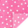 Childish Fabric by Kiyohara - Polar security blanket Stars Pattern Pink x10cm