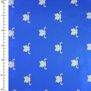 Fabric Sommer by Michael Miller - Swan Blueberry x10cm