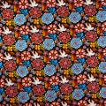 Fabric David Textiles - Mexican Folklore - Black Folk Floral  x10cm