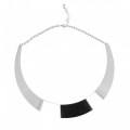 Metal chocker torque with chain 16cm in Stainless Steel x1