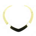 Stiff Open Metal chocker torque pointed shape 16.5 cm in Golden Stainless Steel