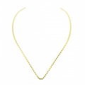 Stiff Open Metal chocker torque 13 cm in Golden Stainless Steel x1