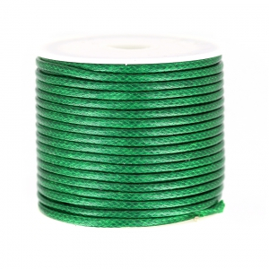 Cordon polyester imitation serpent type snake cord 2 mm Green x9m
