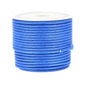 Cordon polyester imitation serpent type snake cord 2 mm Blue x10 m