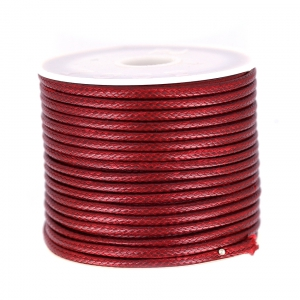 Cordon polyester imitation serpent type snake cord 2 mm Bordeaux x9m