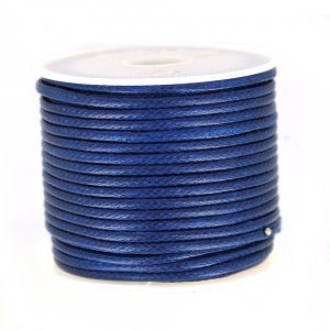 Cordon polyester imitation serpent type snake cord 2 mm Navy blue x9m