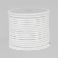 Cordon polyester imitation serpent type snake cord 2 mm white x10 m