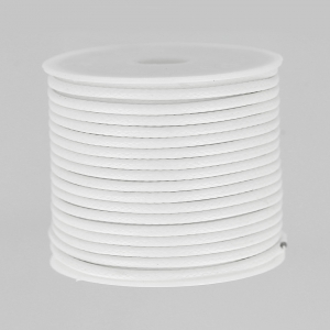 Cordon polyester imitation serpent type snake cord 2 mm white x9m