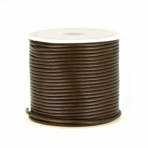 Polyester Cord Snake Skin imitation 1.5mm Brown x10 m