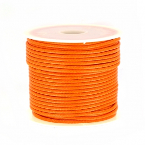 Polyester Cord Snake Skin imitation 1.5mm Orange x10 m