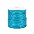 Polyester Cord Snake Skin imitation 1mm Green Turquoise x10 m