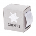 Box of 60 stickers by House Doctor 2 in 1 to customize and wrap Star 35 mm Silver