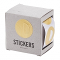 Box of 60 stickers by House Doctor 2 in 1 to customize and wrap Round 30 mm Golden
