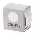 Box of 60 stickers by House Doctor 2 in 1 to customize and wrap Round 30 mm Silver
