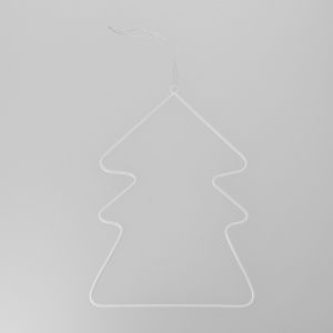 Metal decoration for Christmas Tree by House Doctor 20cm White Fir