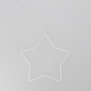 Metal decoration for Christmas Tree by House Doctor 12 cm White Star