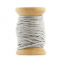Wooden bobbin of 10 meters of waxed cotton by House Doctor 1 mm Light Grey
