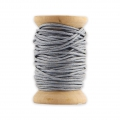 Wooden bobbin of 10 meters of waxed cotton by House Doctor 1 mm Sky Blue Grey