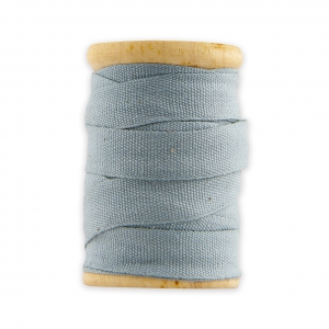 Wooden bobbin of 5m of thick cotton ribbon by House Doctor 10 mm Sky Blue