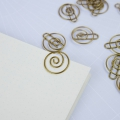 15 Office Paperclips by House Doctor, the tidying 28mm Brass Spiral