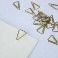 20 Office Paperclips by House Doctor, the tidying 28mm Brass Triangle