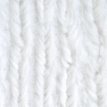 Minky  - Chenille Soft Cuddle Solid White x10cm