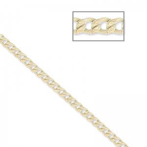 Oval and Flat links Chain 1.5 mm Beige/Golden x1m