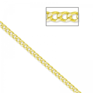 Oval and Flat links Chain 1.5 mm Yellow/Golden x1m