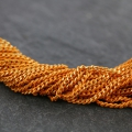Oval and Flat links Chain 1.5 mm Orange/Golden x1m
