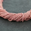 Oval and Flat links Chain 1.5 mm Pink/Golden x1m