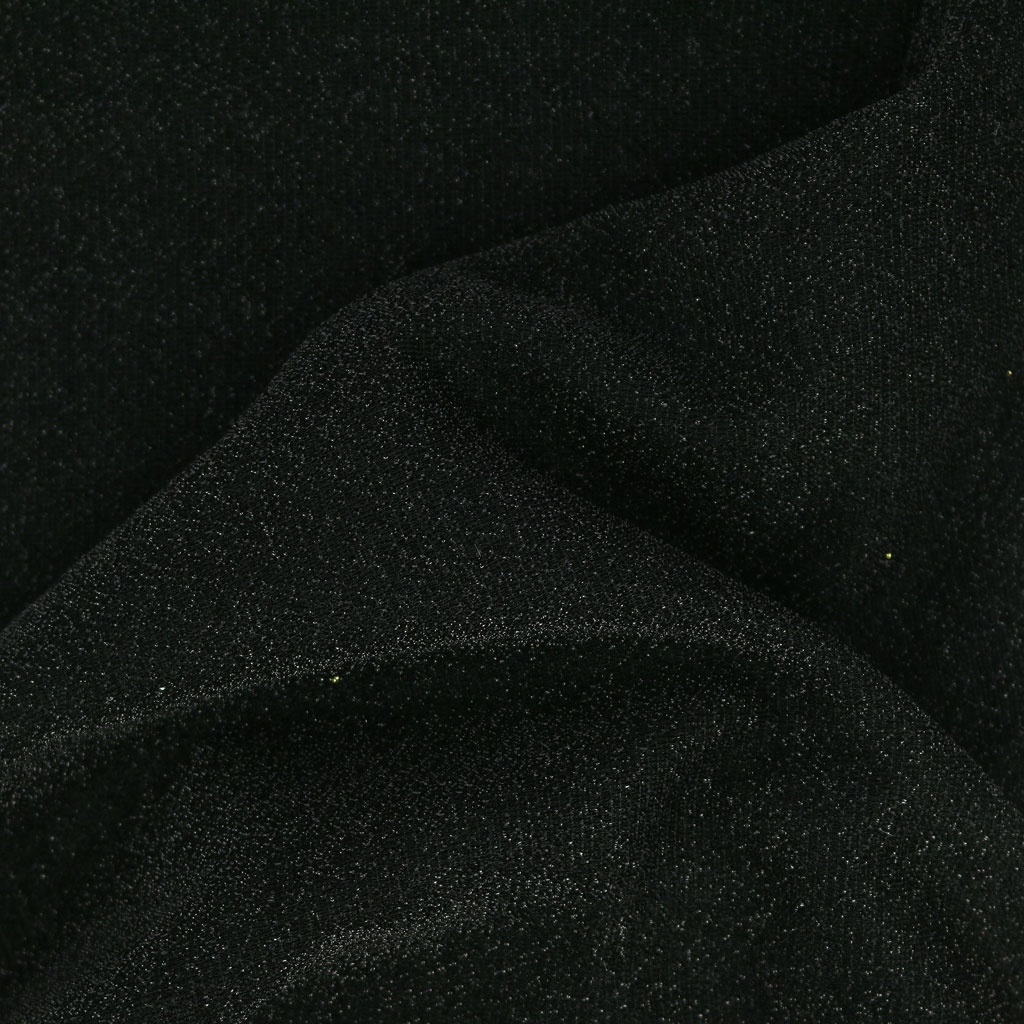 adc31aeae6d Shimmering Jersey Fabric - Black glitter x10cm - Perles & Co