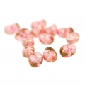Glass Tico Beads 5x7 mm Opaque Luster Rose x25