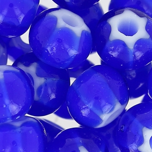 Czech Glass Cornelian Beads Star by Preciosa 32/0 Cobalt x8g