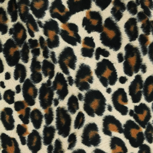 Synthetic Fur Imitation Fabric short hair - Leopard x10cm