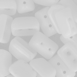 Glass Beads by Roofy Beads 5x8 mm Opaque White x25