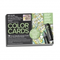 Set of 16 Chameleon colouring in cards Color Cards Floral
