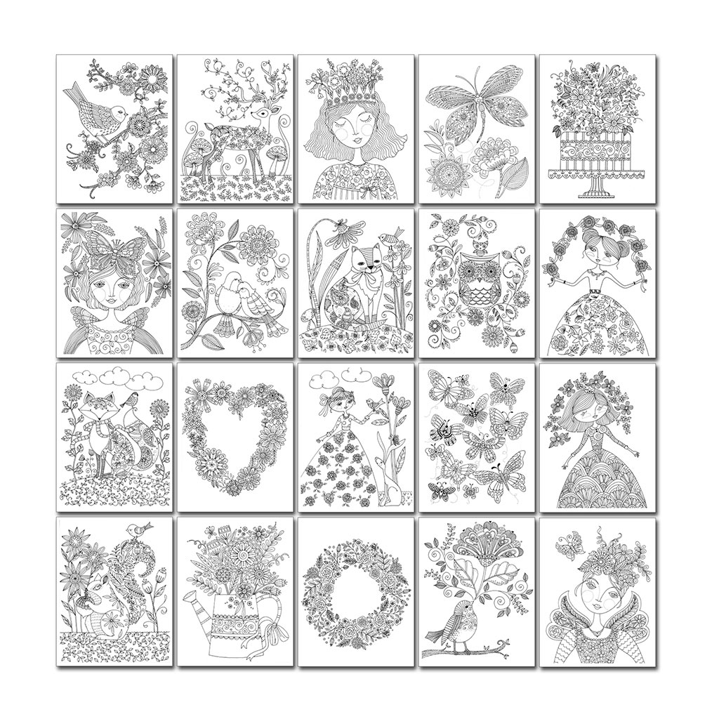 The coloring book poster - Chameleon Color In Book By Loris Art Garden 20 Posters Of 25 X 20 Cm