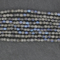 Fire Polished faceted round beads 4mm Glittery Mat Graphite x50